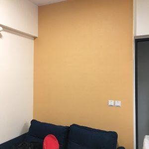 Thi công giấy dán tường phòng khách chung cư TWP2252